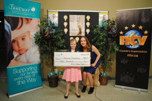 Ailish making her presentation during the 2016 Janeway Telethon.