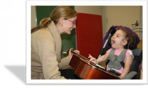 Minxie with Susan - Music Therapy