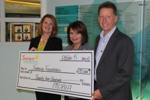 Mobia Janeway Cheque Presentation